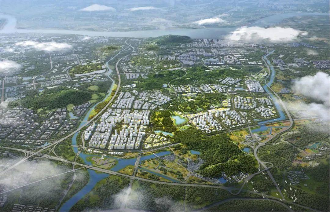 紫東地區核心區自南向北鳥瞰圖。來源:南京規劃資源