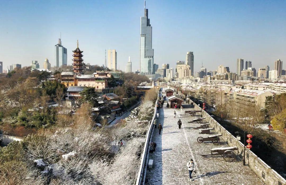 雪后的明城墻臺城段。南報融媒體記者 崔曉攝