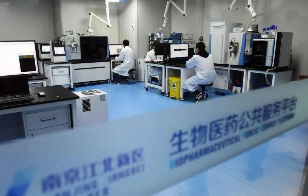 位于江北新区的生物医药公共服务平台内,生物医药企业正在进行新药研发。南报融媒体记者 崔晓摄