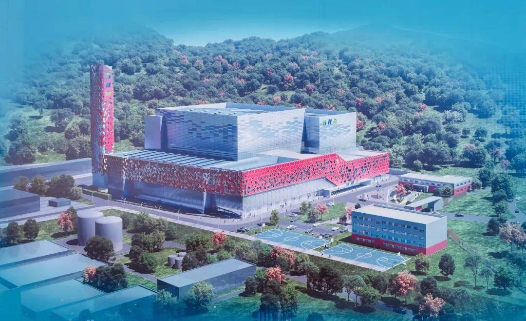 江北生活垃圾焚烧发电厂二期项目效果图。南报融媒体记者 杨凡摄
