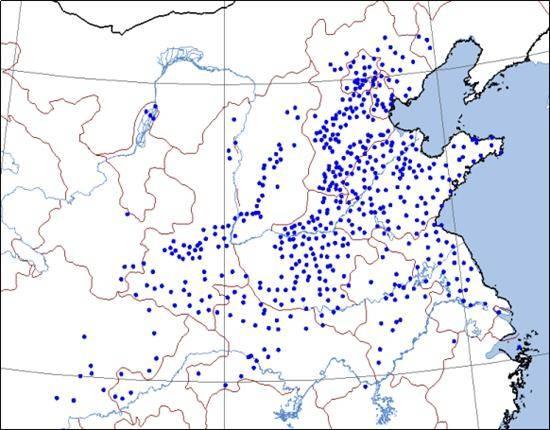图:2月21日最高气温创2月纪录站点