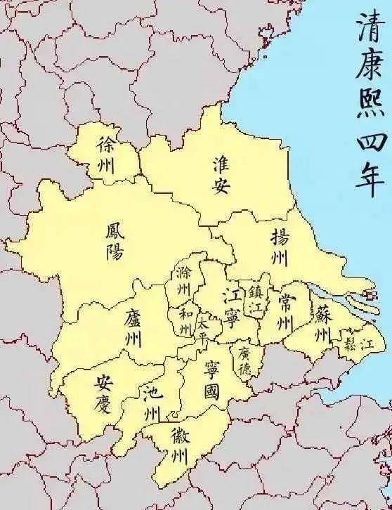 清康熙四年江南省地圖。方志江蘇供圖