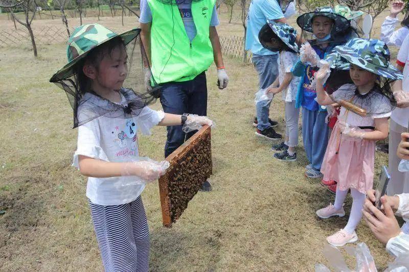 孩子們在江寧區臺創園體驗農耕文化。江蘇省農學會供圖
