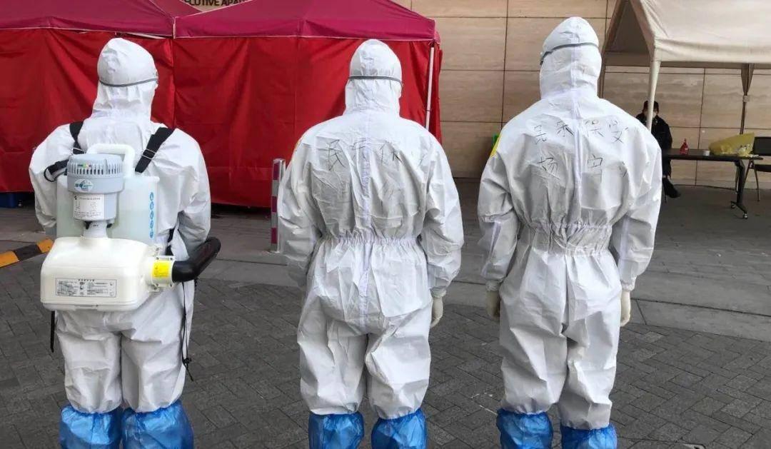 保安員在防疫隔離點工作。江蘇民樂保安服務有限公司供圖
