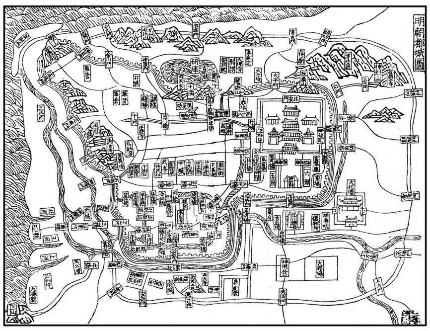 《洪武京城图志》中的《明朝都城图》。受访者供图