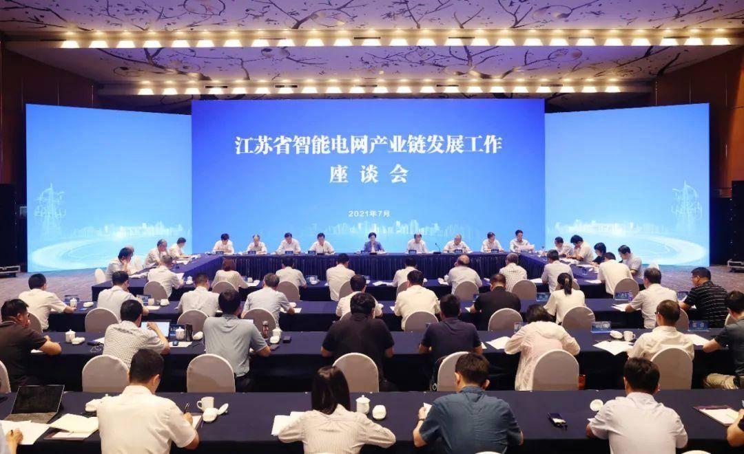 韩立明主持召开省智能电网产业链重点企业座谈会。南报融媒体记者 崔晓 摄