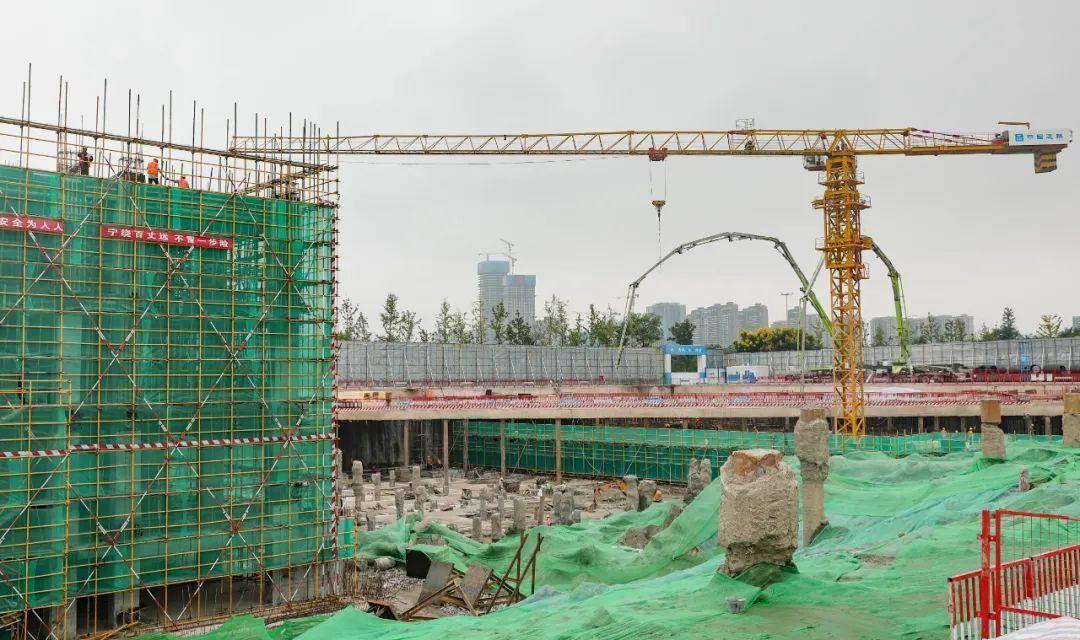 首创数科中心(58集团华东总部)项目。南报融媒体记者 冯芃摄