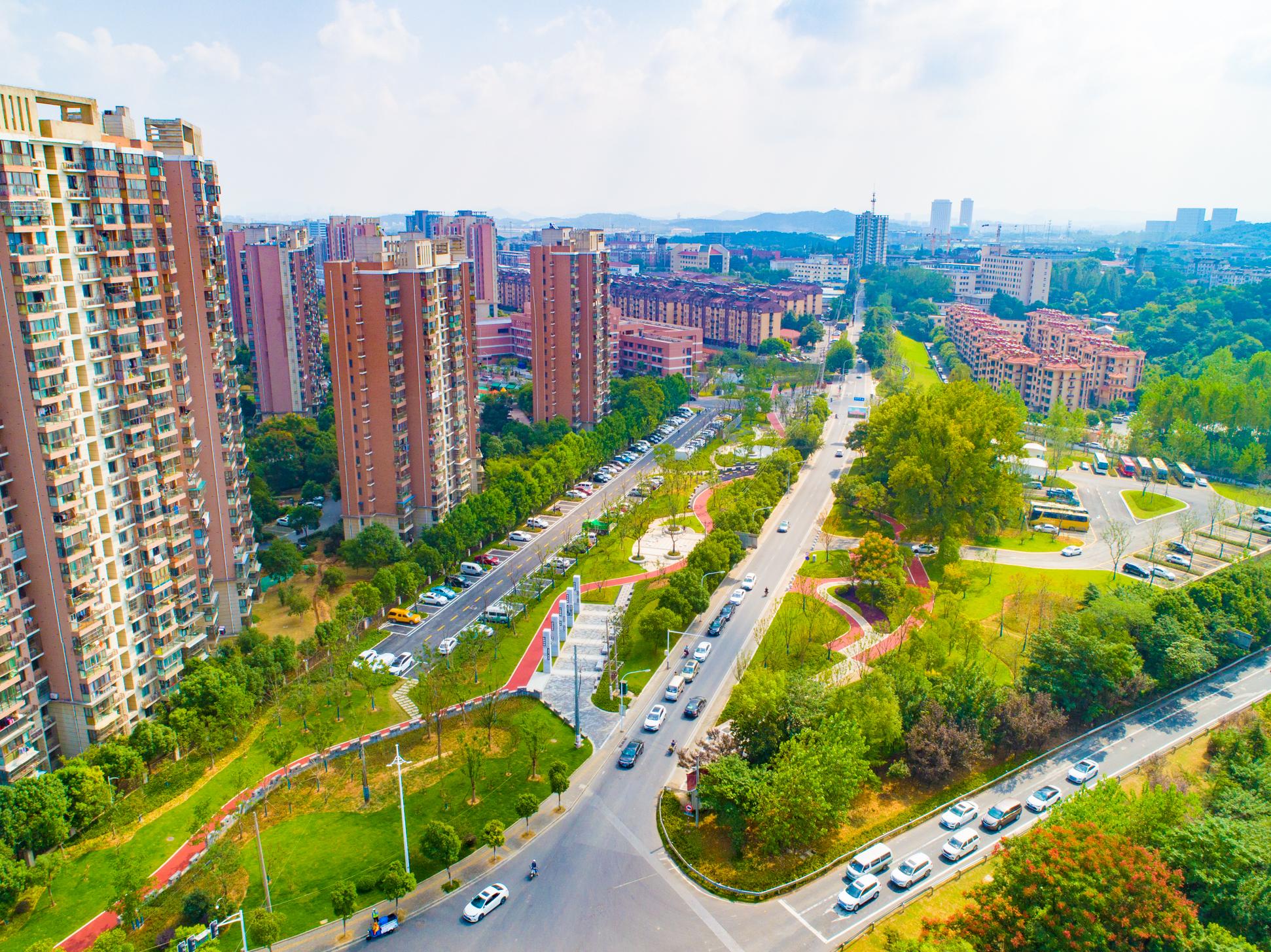 明外郭百里风光带新尧新城段口袋公园。南京市绿化园林局供图